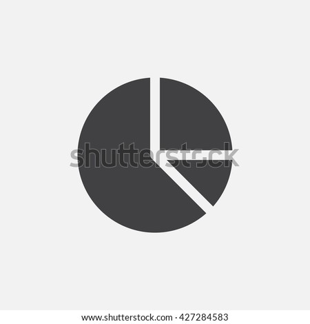 Pie chart icon vector, solid logo illustration, pictogram isolated on white