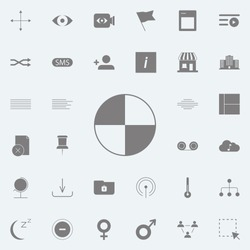 Pie Chart  icon. web icons universal set for web and mobile