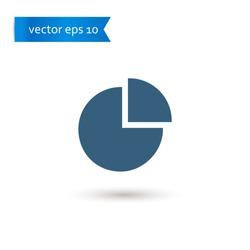 pie chart. pie chart icon. pie chart vector. flat style. sign design vector. sign design. Vector EPS 10