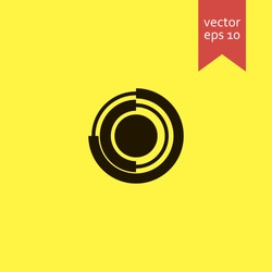 pie chart. pie chart icon. sign design. Vector EPS 10.