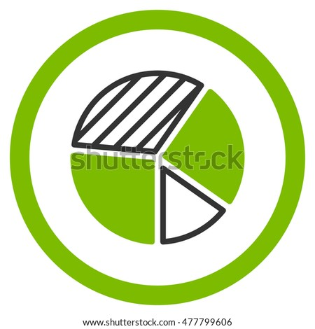 pie chart rounded icon vector