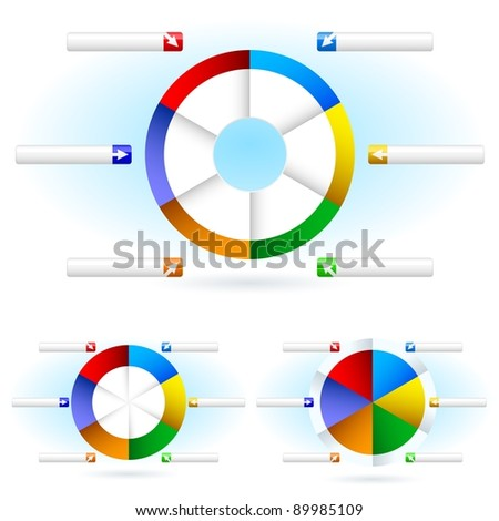 Pie charts. Illustration for design on white background