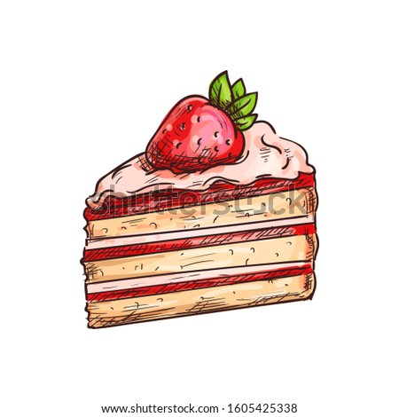 piece of cake with cream and
