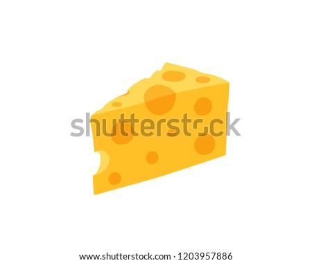Piece of cheese. Cheese icon isolated vector illustration on white transparent background
