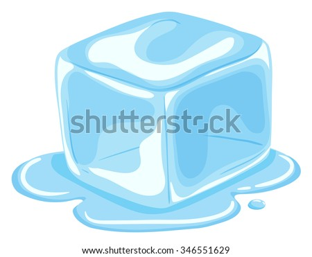 piece of ice cube melting