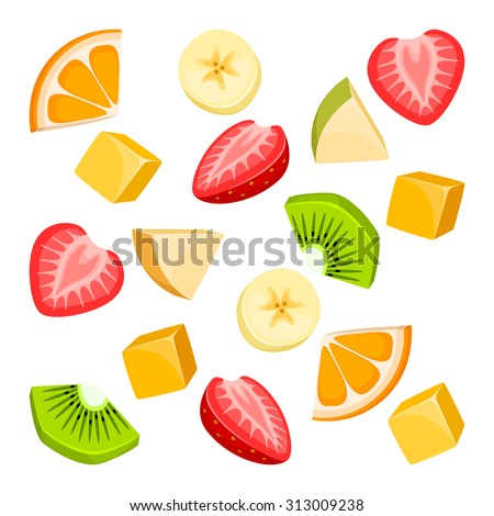 pieces of fruit