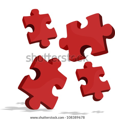 pieces of the puzzle that looks fall