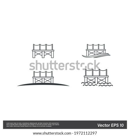 pier icon docks symbol vector