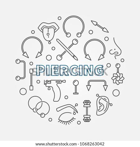 piercing circular concept
