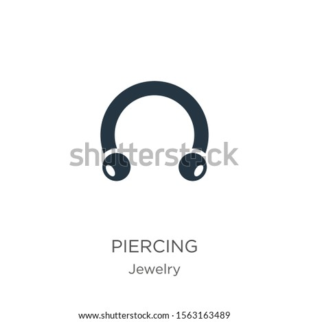 piercing icon vector trendy