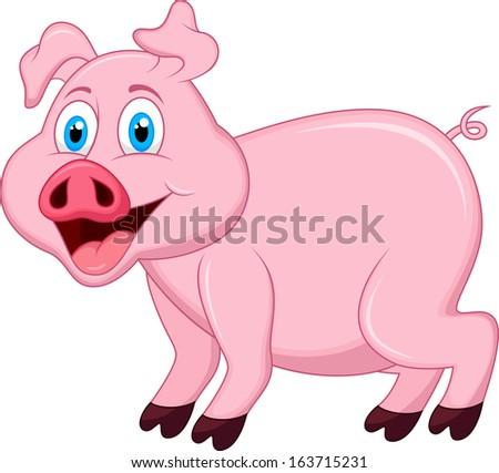 Pig cartoon character #163715231