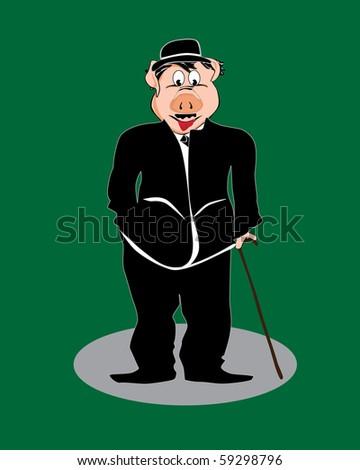 pig cartoon  comic character
