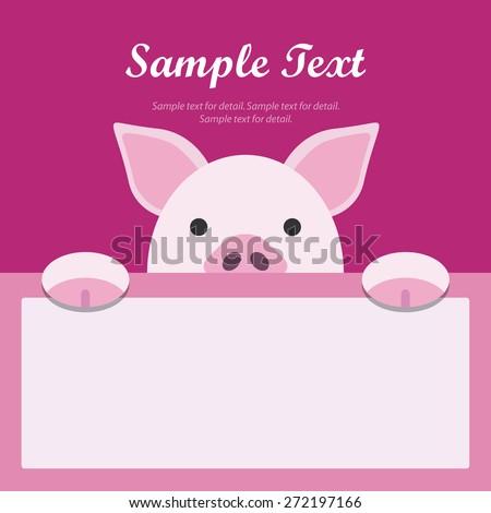 pig face text box  flat design