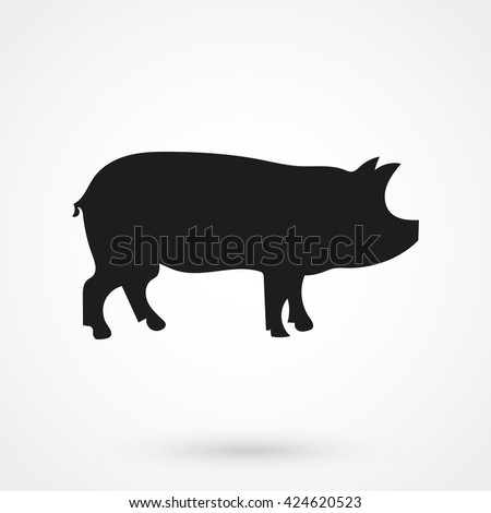 pig icon isolated on background