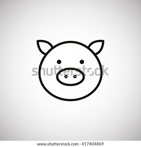 pig icon pig icon vector pig
