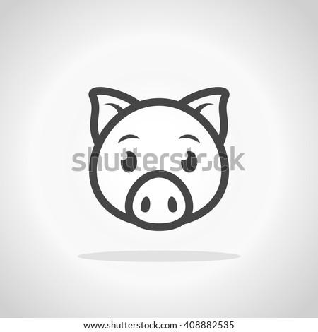 pig icon pig logo