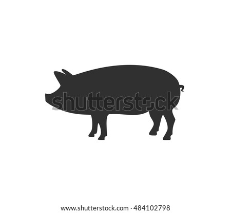 Pig icon. Pork icon. Pig vector illustration
