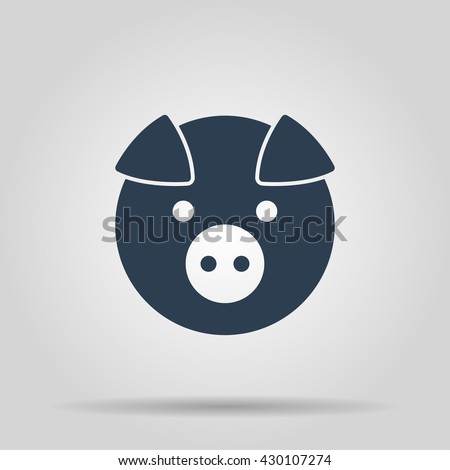 Pig Icon. Vector concept illustration for design.