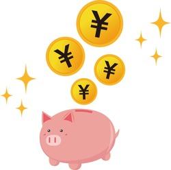 Pig piggy vector illustration . money icon