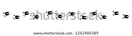 Pig tracks - isolated black icon vector illustration on white background.  Photo stock ©
