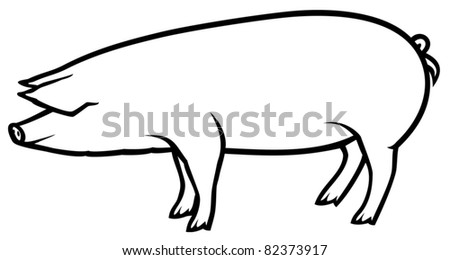 pig vector illustration - stock vector