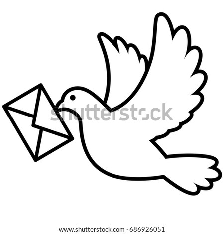 pigeon bird flying with an