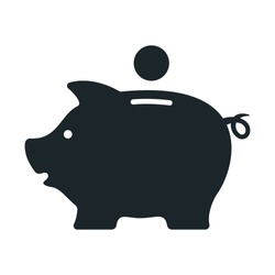 Piggy bank. Money box. Vector illustration