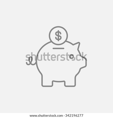piggy bank with dollar coin