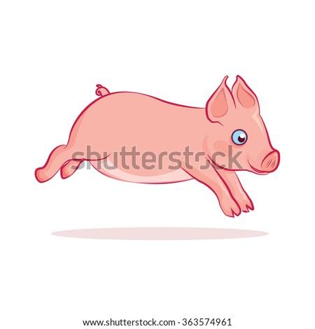 piglet funny running cartoon
