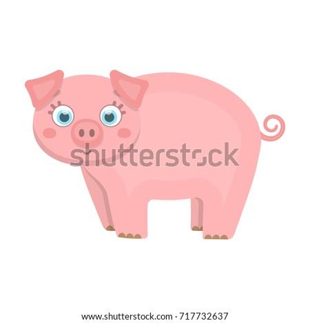 piglet  single icon in cartoon