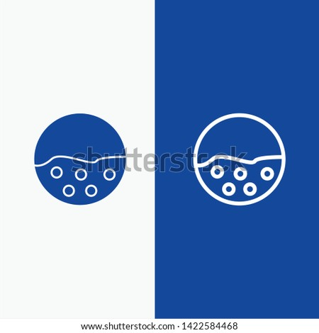 Pigment, Skin, Skin Care, Skin, Skin Protection Line and Glyph Solid icon Blue banner Line and Glyph Solid icon Blue banner