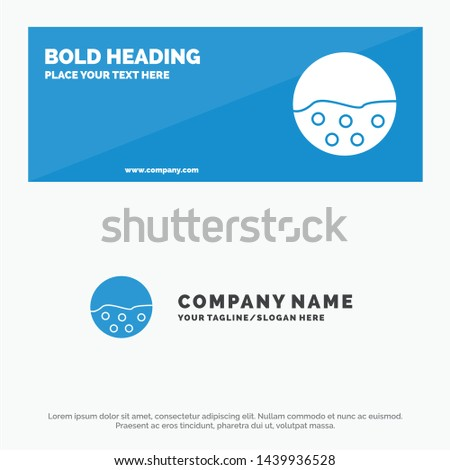 Pigment, Skin, Skin Care, Skin, Skin Protection SOlid Icon Website Banner and Business Logo Template