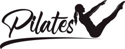 Pilates Sitting Woman Silhouette logo