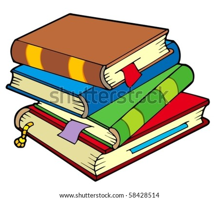 stock-vector-pile-of-four-old-books-vector-illustration
