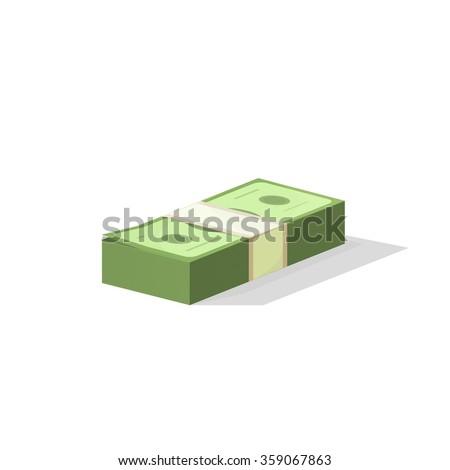 pile of money vector
