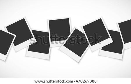 pile of photo frames on white