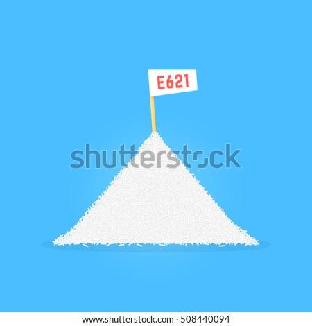 pile of sodium glutamate like e