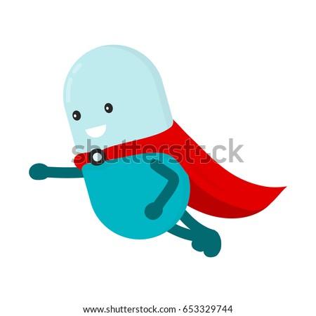 pill character super hero