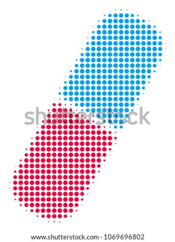 pill halftone vector pictogram