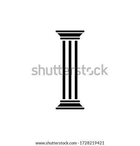 Pillar icon.Simple trendy flat pillar icon isolated from a white background. Vector illustration of eps10 Photo stock ©