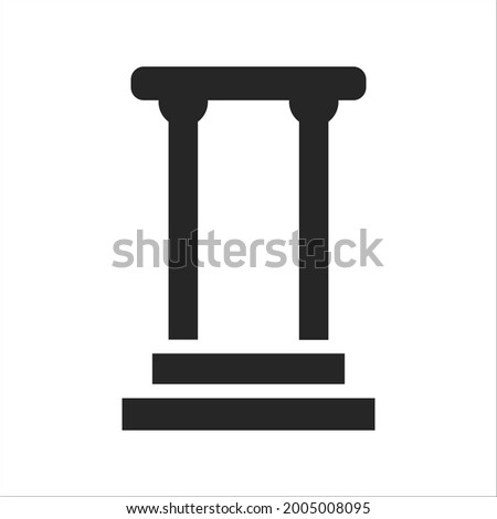 pillar icons symbol vector elements for infographic web Foto stock ©