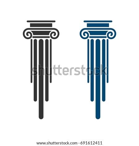Pillar Law Office Logo Template Illustration Design. Vector EPS 10. ストックフォト ©
