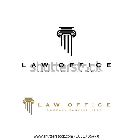 Pillar Law Office Vector Logo Template