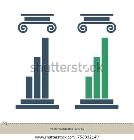 Pillar Legal, Attorney, Law Office Vector Logo Template