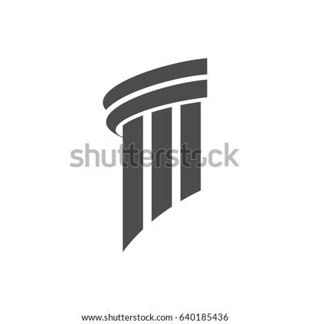 Pillar Logo Design for law firm, attorney or university ストックフォト ©