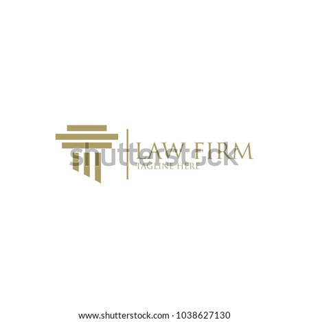 Pillar Vector Icon. Law Office Logo Template