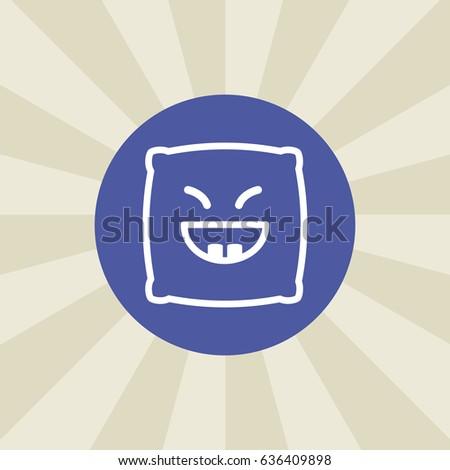 pillow emoji icon sign design