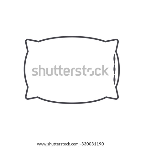 pillow icon. cushion  icon