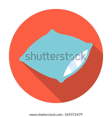 pillow icon in flat style
