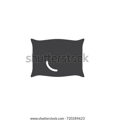 Pillow icon vector, filled flat sign, solid pictogram isolated on white. Symbol, logo illustration.